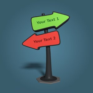 directional sign 3D
