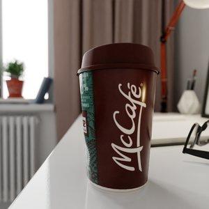 3D model mccafe cup