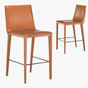 bottega counter stool 3D