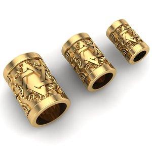 charm jewelry bracelets 3D model
