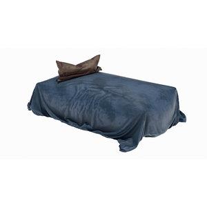loose bed velvet fabric 3D model