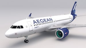 3D model aegean airlines a320 neo