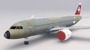 3D swiss air a320