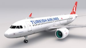 3D turkish airlines a320 model