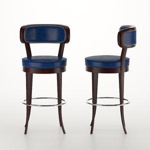 3D 67 pall mall bar stool