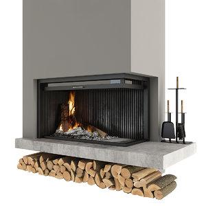 fireplace corner 3D model