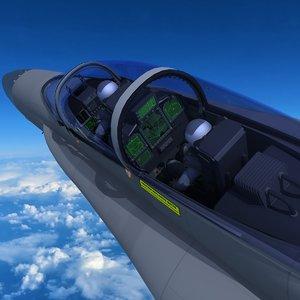 ea-18g growler aircraft 3D