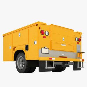 enclosed utility truck model