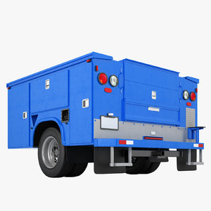 3D enclosed utility truck model