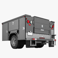 Enclosed Utility Truck Cabin 04