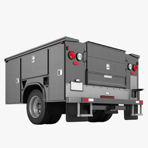 3D enclosed utility truck