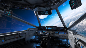 3D spaceship cockpit v3