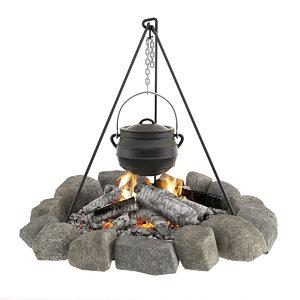 3D bonfire bowler
