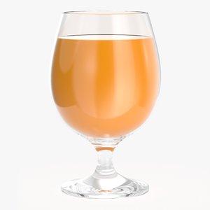 orange juice pokal glass beverage 3D model