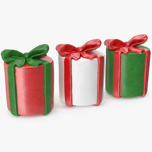 3D gift box figures cylindrical model