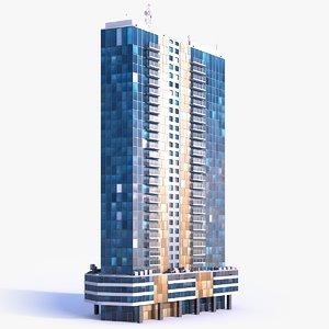 skyscraper building 05 model