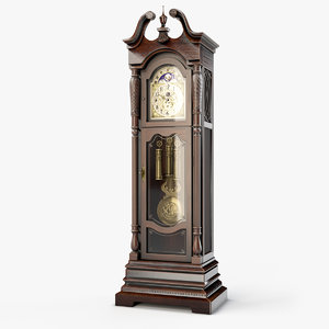 3D model lindsey grandfather clock