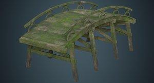 3D plank bridge 1c model