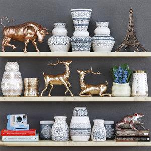 shelf decor 3D model