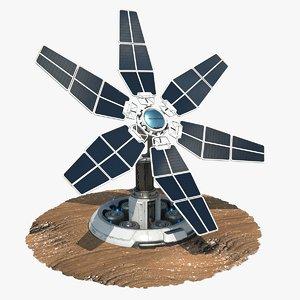sci-fi solar tower 3D model