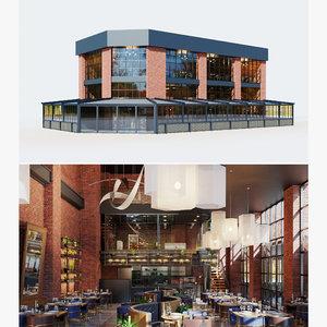 3D model building restaurant