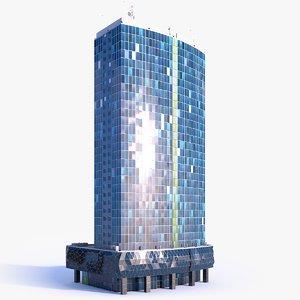 skyscraper building 06 3D