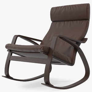 genuine leather rocking chair model