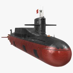 jin class ballistic missile 3D model