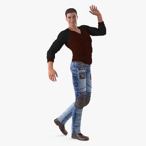 3D man streetwear model