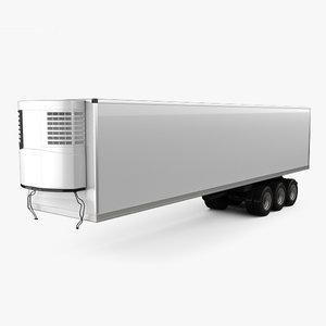 generic refrigerator semi 3D model