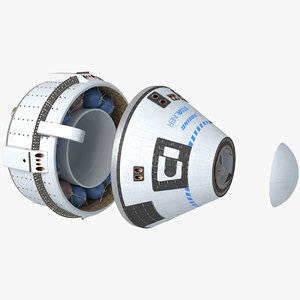 boeing starliner cst-100 space capsule 3D model
