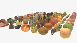 3D model fruits vegetables
