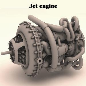 fantasy jet engine model