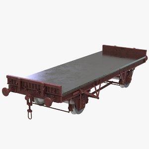 flat wagon 3D model