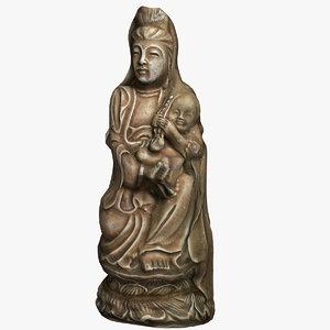 3d model sculpture woman statue