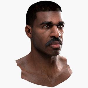 3D human male head