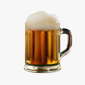 3D cartoon beer