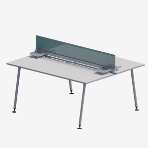 modular work desk 3D model