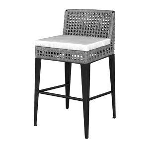 bar chair ratana genval 3D