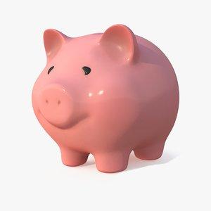 3D piggy bank pbr model