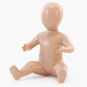 baby mannequin 3D