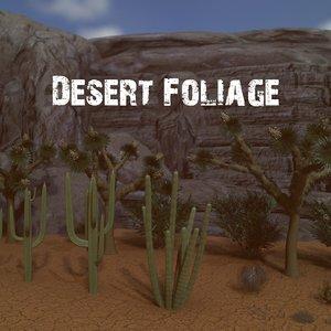 3D desert foliage