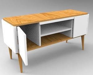 3D meuble en bois moderne