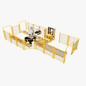 palletising cell 3D