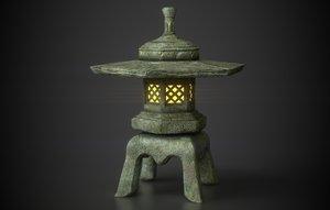 japanese maru yakimi lantern 3D model