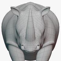 Rhinoceros Base Mesh