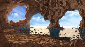 3D cave landscape nature