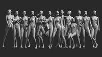 Animated Female Base Mesh - 14 poses