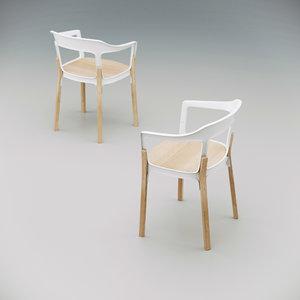magis steelwood chair wood 3D