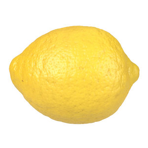 3D photorealistic scanned lemon model
